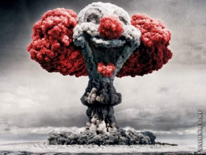 Homepage Funny Funny Wtf Happy Clown Nuclear Explosion Wallpa